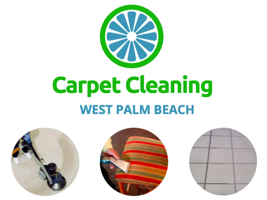 Carpet Cleaning Logo and services for west palm beach carpet cleaning services.